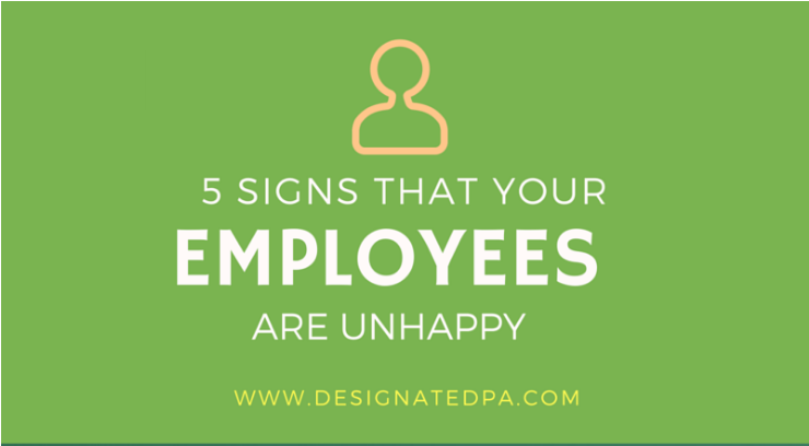 5 Signs your employees are unhappy
