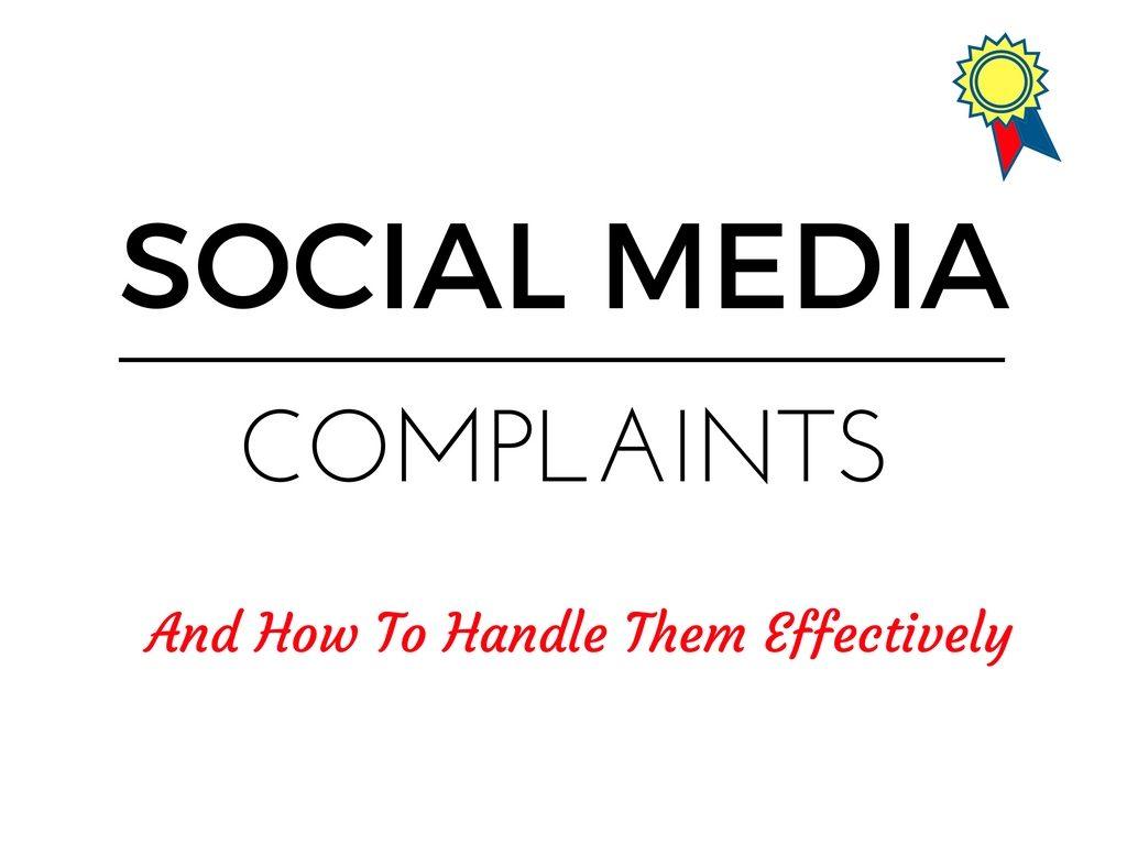 How A Startup Should Handle Social Media Complaints