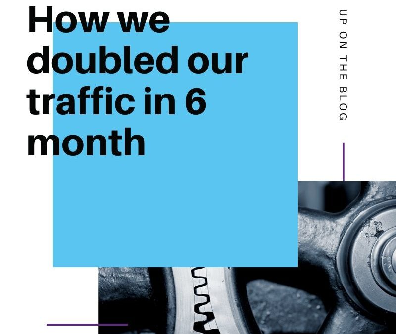 doubled our traffic