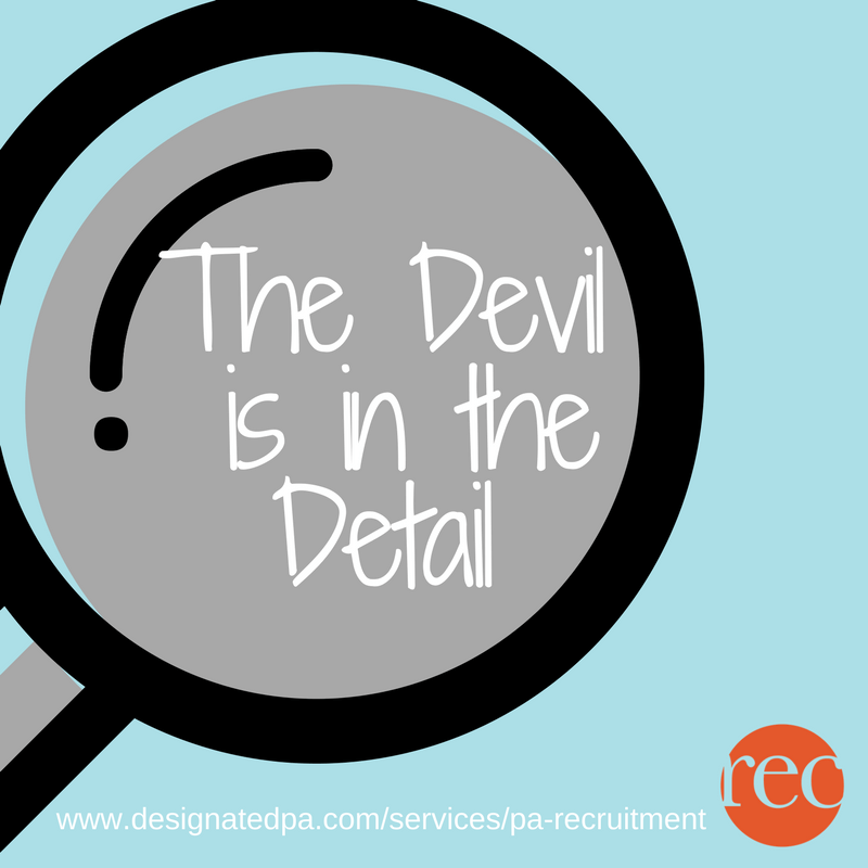 The Devil is in the Detail – the Importance of a Strong CV