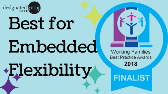 The Designated Group has reached the finals of the Working Families' Best Practice Awards 2018!