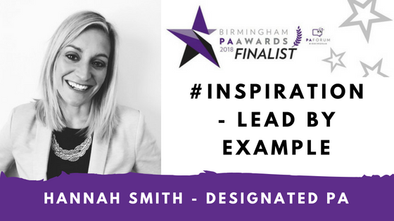 Designated PA Hannah Smith is a FINALIST in the Birmingham PA Awards 2018!