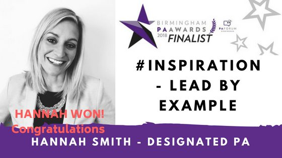 Designated PA, Hannah Smith Wins Inspirational Award! – Leading by Example